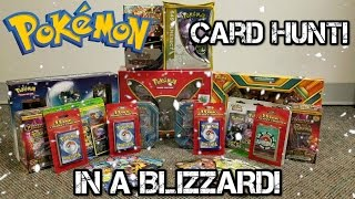 Poke Hunt 2! Hunting For Pokemon Cards In A Blizzard! Pokemon Cards at Kohl's And TJ Maxx?!?