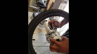 Street Strider front wheel replacement