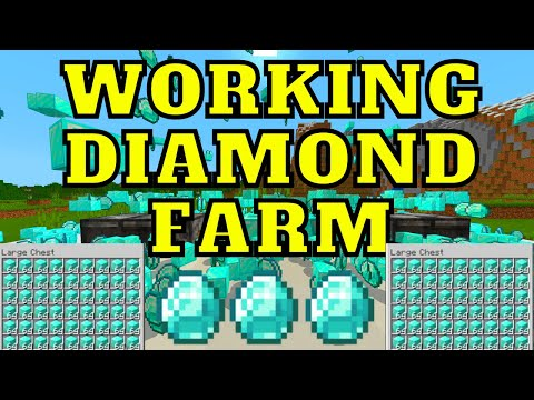 Automatic Diamond Farm For Minecraft Bedrock Edition 1.16.201 Realms/PC/PS4/XBOX/MCPE