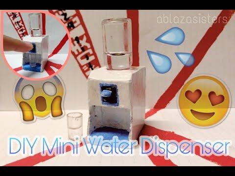 DIY Miniature Water Dispenser   No polymer clay