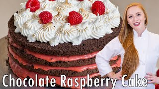 Chocolate Raspberry Lemon Cake