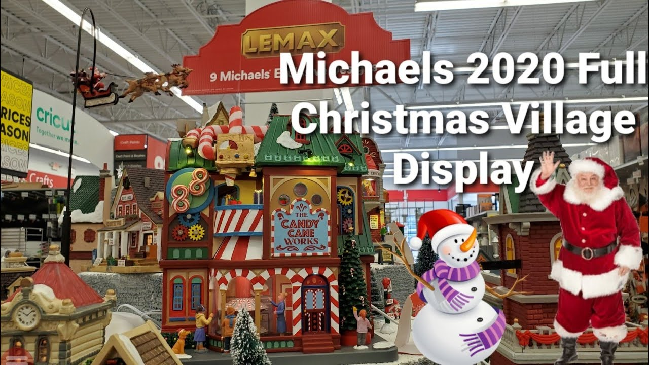 Michaels Lemax 2020 Christmas Village Michaels Lemax 2020 Full Christmas Town Display   YouTube