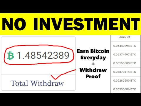 Earn $550 Per Day With Bitcoin Without Investment (Get 1 BTC In 1 Day)