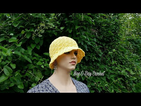 Learn How To #Crochet The Summer Breeze Ladies Sun Hat TUTORIAL #391