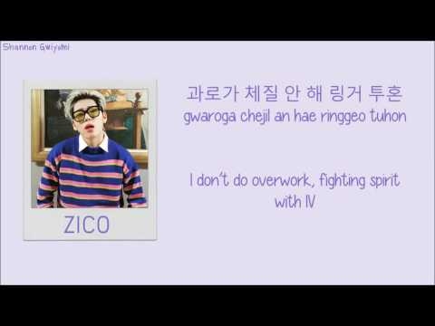 ZICO - BERMUDA TRIANGLE (Feat. Crush, DEAN) Color Coded Lyrics [Han/Rom/Eng]