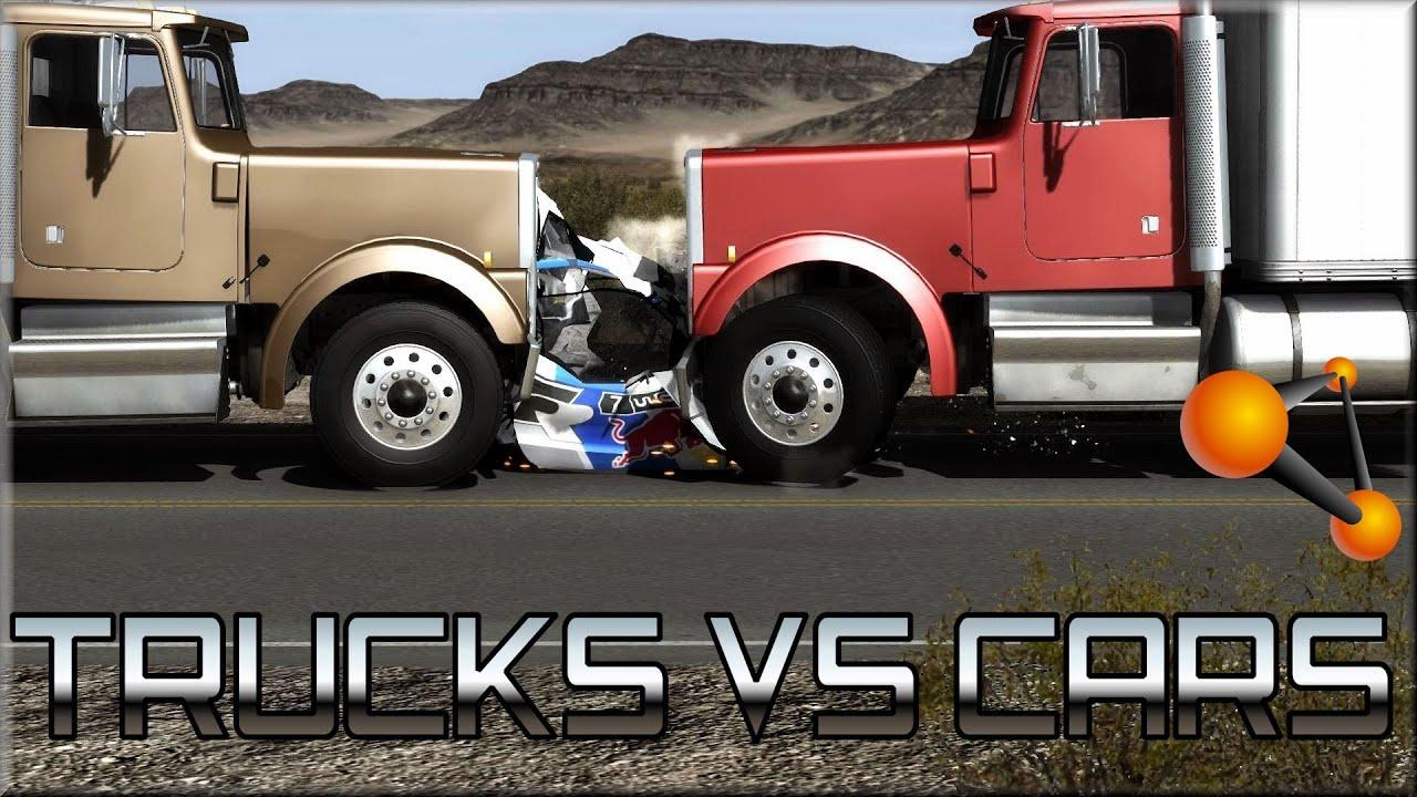BeamNG Drive Trucks Vs Cars #1 - YouTube