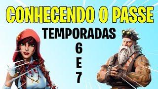 CONHECENDO OS PASSES DE BATALHA DA 6ª E 7º TEMPORADAS Fortnite Battle Royale