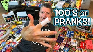 HUNDREDS of Gag PRANKS!!  **Unboxing & Pranking!**