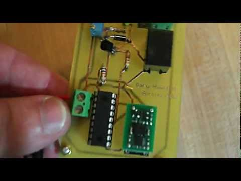 Motion Detection controller on PCB