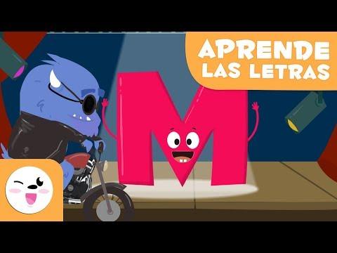 """Aprende la letra """"M"""" con el Monstruo Martín - El abecedario"""
