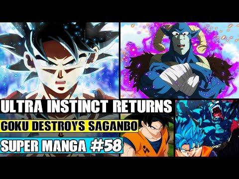 ULTRA INSTINCT GOKU RETURNS! Goku Vs Saganbo! Goku Vs Moro Dragon Ball Super Manga Chapter 58 Review