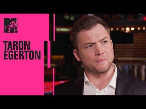 Taron Egerton on 'Robin Hood' & Working w/ Jamie Foxx | CinemaCon | MTV News