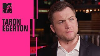 Taron Egerton on 'Robin Hood' & Working w/ Jamie Foxx | CinemaCon | MTV News