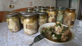 Консервы домашние из речной рыбы в автоклаве Весь процесс приготовления