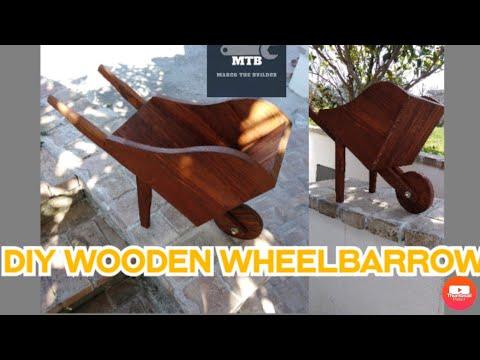 Carriola in legno fai da te/ DIY wooden wheelbarrow