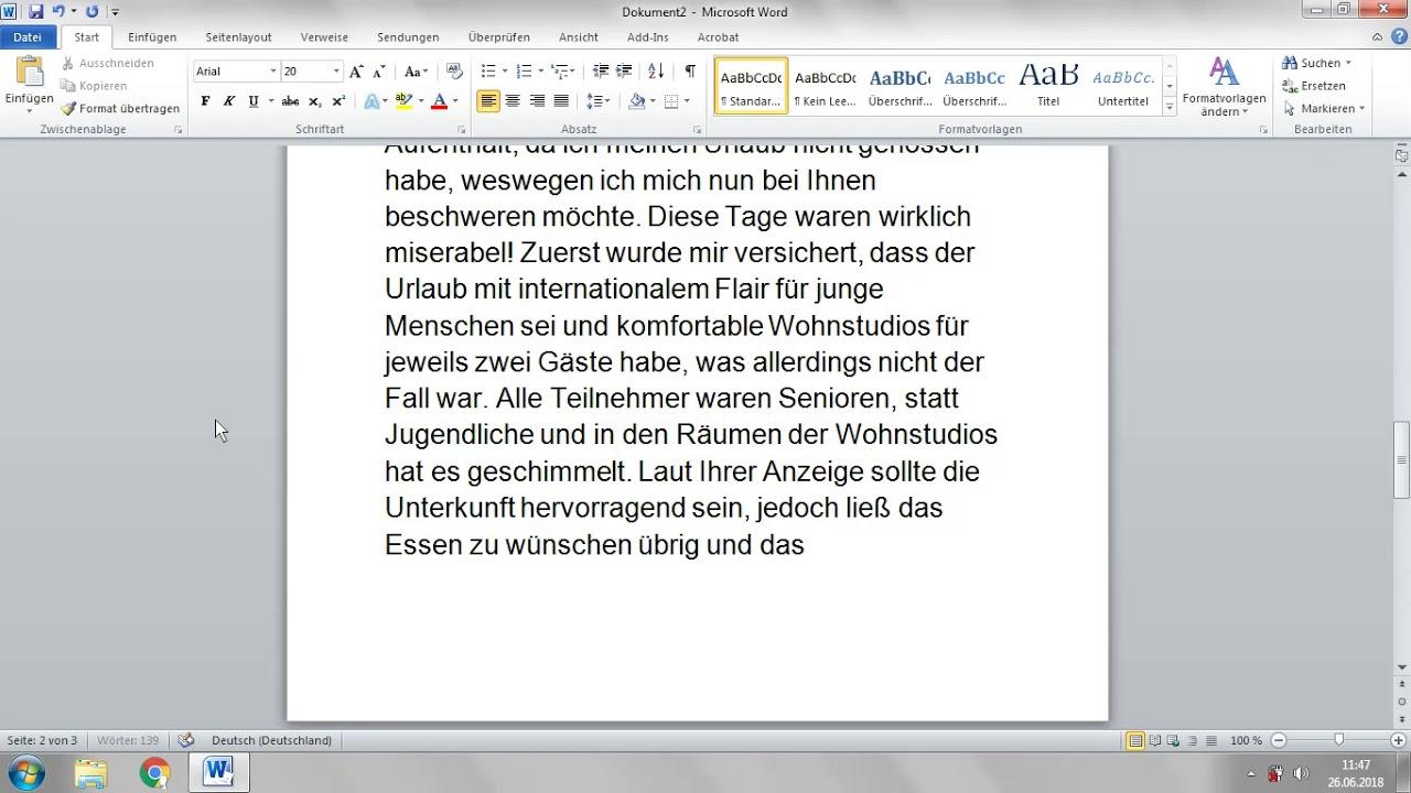 Deutsch B2 Einen Brief Schreiben Eine Beschwerde Formulieren