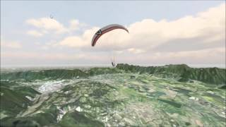 Paraflysim Version 1.6 Development Terrain - 3D Paragliding Simulator
