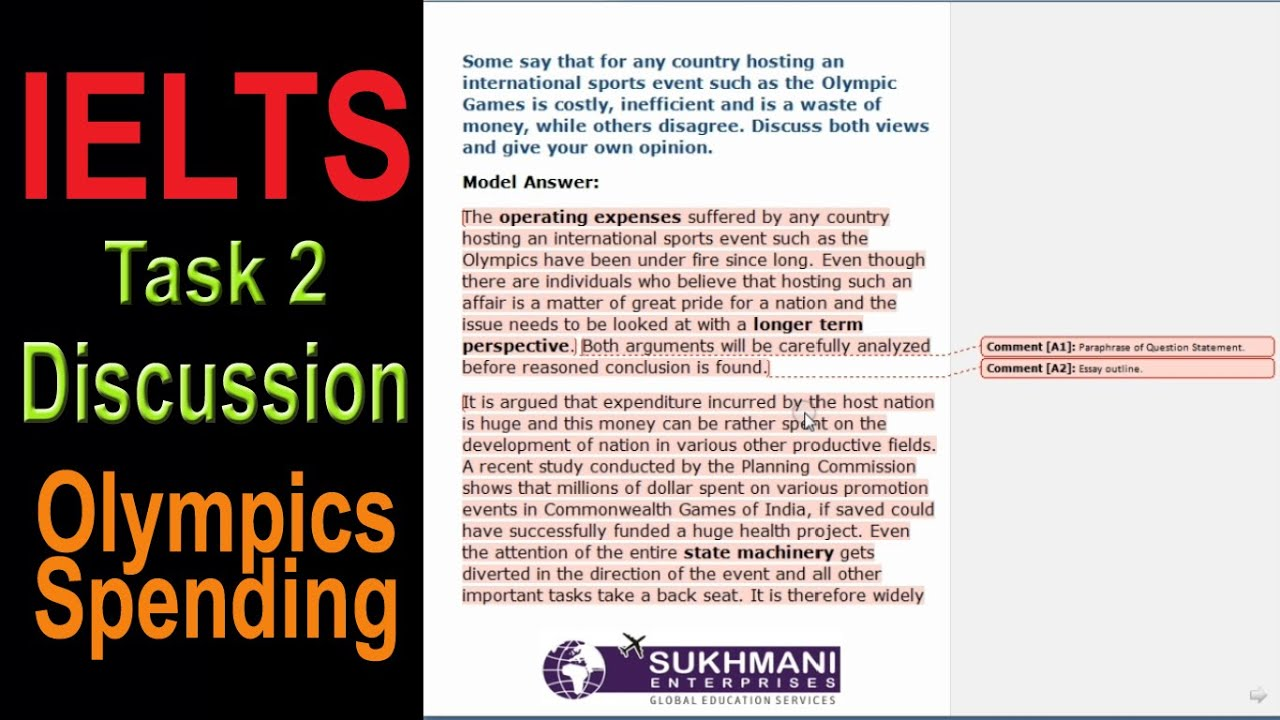 writing a discussion essay how to write a discussion essay steps  writing task olympics spending discussion essay writing task 2 olympics spending discussion essay