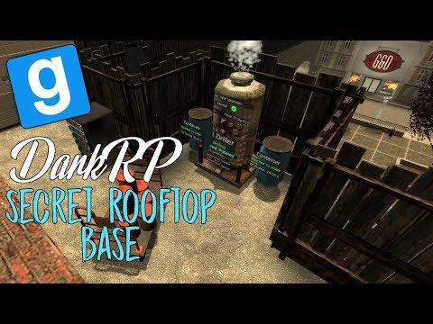 Secret Rooftop Oil Drilling Base | Gmod DarkRP