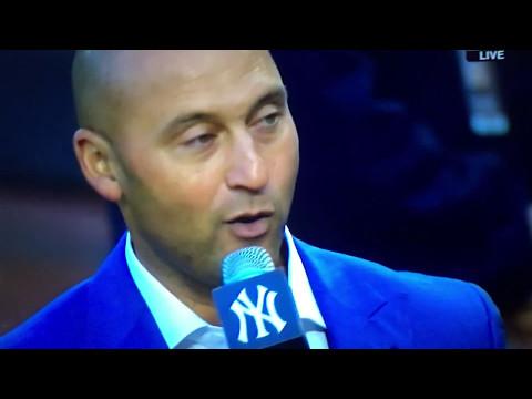 Derek Jeter Number Retired at Yankee Stadium