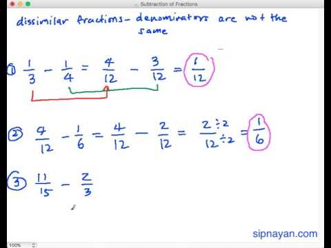 Download SF2 Subtraction of Fractions (Dissimilar Fractions) Mp4 baru