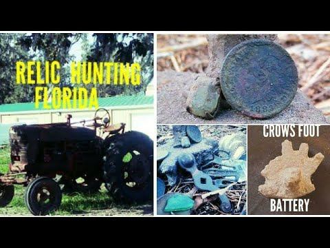 Metal Detecting 1800's Coins & Relics Early Florida Homestead