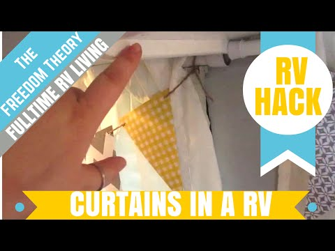 RV HACK | HANGING CURTAINS IN YOUR RV | The Freedom Theory
