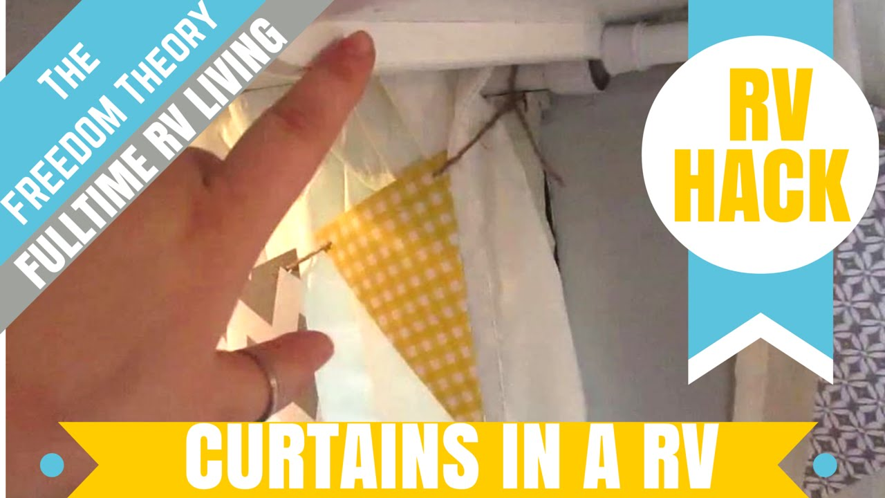 Trailer Curtains Rv Hack Hanging Curtains In Your Rv The Freedom Theory