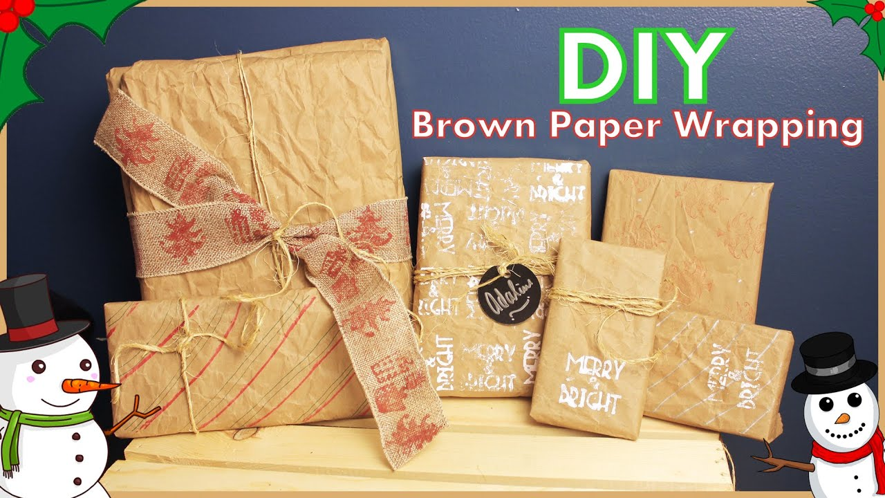 Diy Decorating Brown Paper Wrapping Paper Ideas How To Free Or