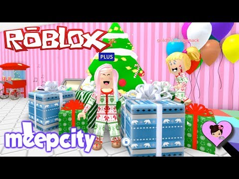 Roblox Meep City Christmas Holiday Party with Baby Goldie! - Titi Games