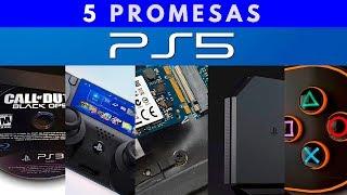 5  PROMESAS  de  PS5   ‼️ |  Promesas de Sony para PlayStation 5 - Jugamer