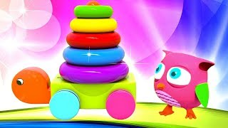 Рожевий совеня Хоп Хоп і Черепаха - Вивчаємо кольори і цифри.