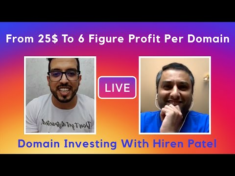 How to Buy and Sell Domains With Hiren Patel (Qualitynames / Teradomain) – 6 Figure Domain Sales