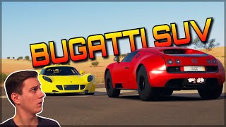 WORLD`S FIRST BUGATTI SUV | Forza Horizon 3 Dev Mods | Driving over cars!