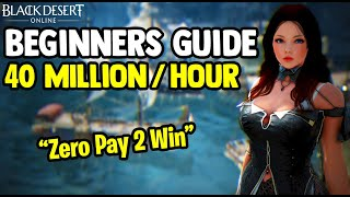 Black Desert Online [BDO] - Make 40 Million Silver Per Hour - Beginners Guide 2020 [Zero Pay To Win]