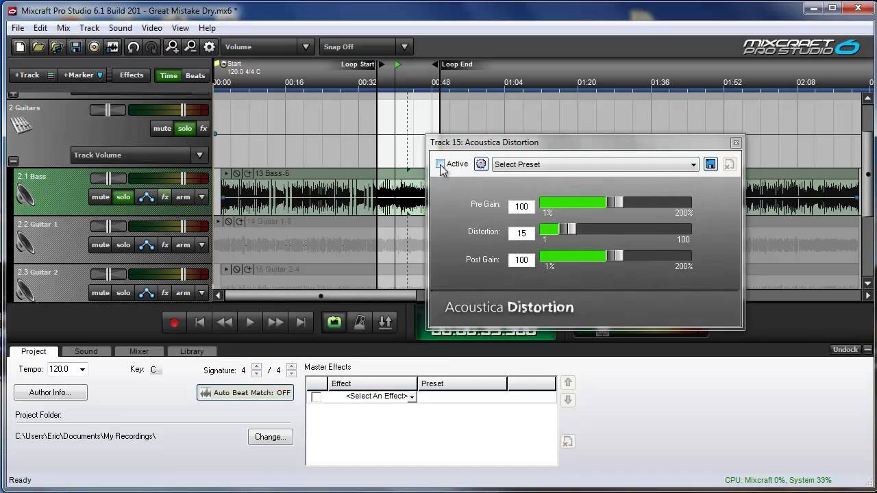 mixcraft effects acoustica distortion youtube. Black Bedroom Furniture Sets. Home Design Ideas