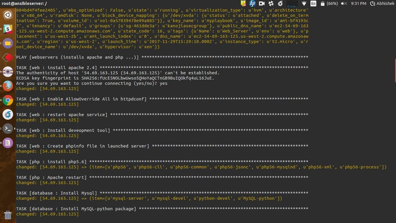 Launch EC2 instance with lamp using ansible (automation) in just few steps
