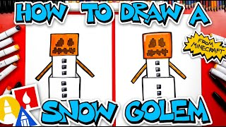 How To Draw A Snow Golem From Minecraft