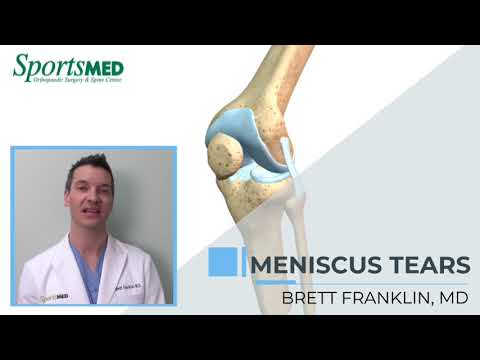 MENISCUS INJURIES: Common Symptoms and Treatment Options for Knee Pain Dr. Brett Franklin