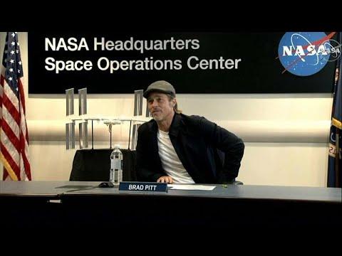 شاهد: النجم الأميركي براد بيت في اتصال مع محطة الفضاء الدولية بعد فيلمه الأخير…  - 19:54-2019 / 9 / 17