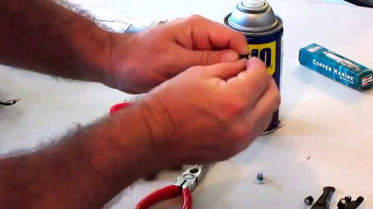 How To Attach Spark Plug Boot To Coil Wire: Spark Plug Wire Boot Assembly (Marine) - YouTuberh:youtube.com,Design