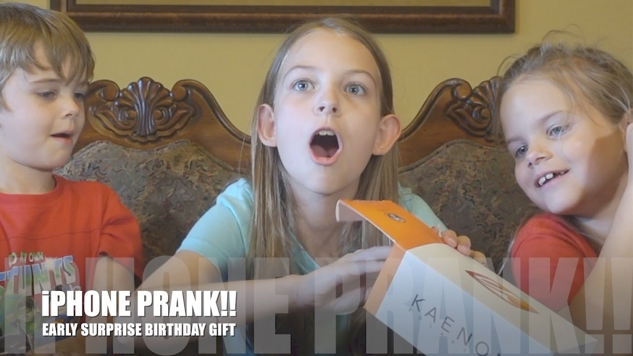 Iphone Prank Early Surprise Birthday Gift Youtube