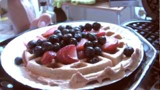 "How To Make ""Protein Waffles"" Muscle Building Breakfast Meal - (Big Brandon Carter)"