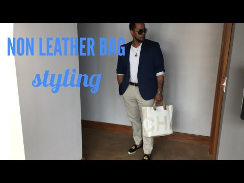 57bf86a059b8 STYLING NON LEATHER BAGS/ FT CHANEL DEAUVILLE TOTE 2018 - YouTube