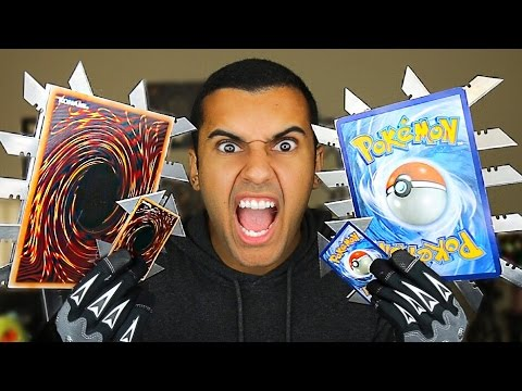 MOST DANGEROUS TOY OF ALL TIME!! 2.0  ( EXTREME GIANT POKEMON / YU-GI-OH! ) THROWING CARDS EDITION!!