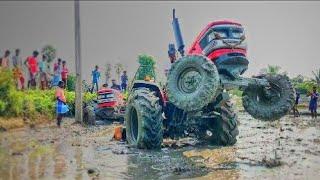 Mahindra Tractor Arjun Ultra 555DI stuck in mud rescue by Mahindra 555DI Tractor| Come to Village
