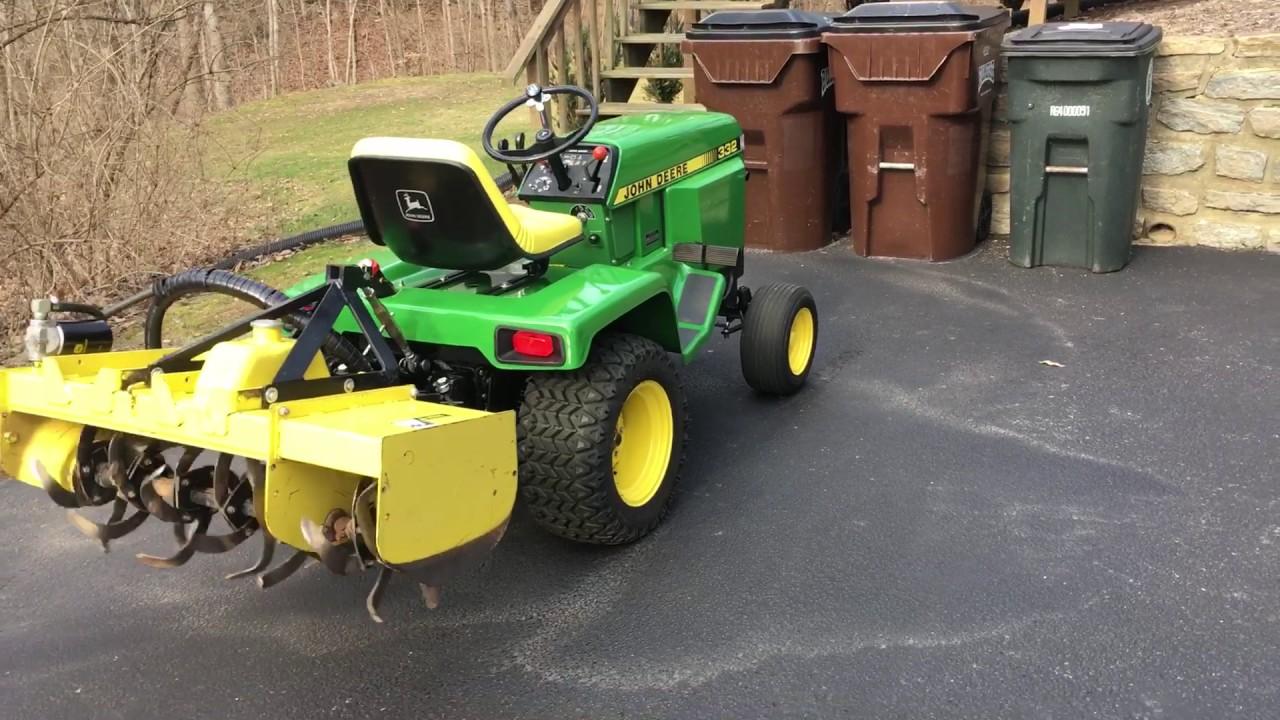 John Deere 42 Hydraulic Tiller On 332 Part 2