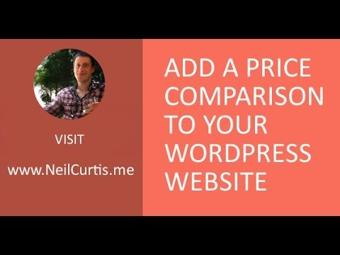 Add an affiliate price comparison to your website | WordPress & Datafeedr Video