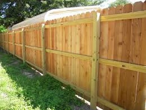 how to build a wood fence youtube. Black Bedroom Furniture Sets. Home Design Ideas