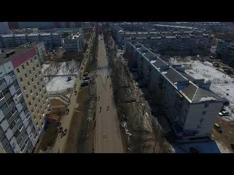 9 мая 2018 года. Город Усинск. Республика Коми. Бессмертный полк.